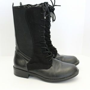 Cole Haan Black Lace Up Boot